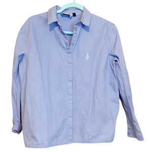 J.W ANDERSON x TOPSHOP Blue Collared Button Shirt